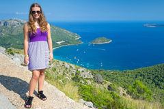 Adolescente en viaje tropical Imagen de archivo libre de regalías