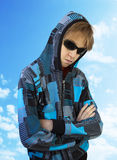 Adolescente en vidrios Imagenes de archivo
