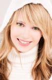 Adolescente encantador en hoodie Imagen de archivo