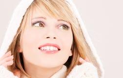 Adolescente encantador en hoodie Imagen de archivo libre de regalías