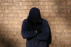 Adolescente encapuchado Foto de archivo libre de regalías
