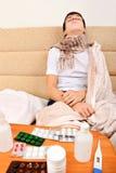 Adolescente enfermo Fotografía de archivo libre de regalías