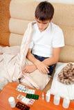 Adolescente enfermo Foto de archivo libre de regalías