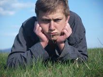 Adolescente enojado Fotografía de archivo libre de regalías