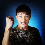 Adolescente enojado Foto de archivo libre de regalías