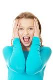 Adolescente enojado que grita Imagen de archivo