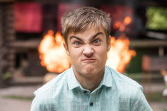 Adolescente enojado ultrajado Foto de archivo libre de regalías