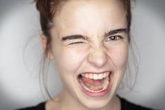 Adolescente entusiasta Fotos de archivo libres de regalías