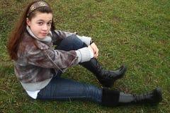 Adolescente esterno Fotografia Stock Libera da Diritti