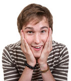 Adolescente excitado fotografia de stock royalty free