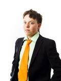 Adolescente expresivo que presenta en estudio Imagen de archivo libre de regalías