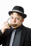 Adolescente expresivo vestido en traje Imagen de archivo libre de regalías