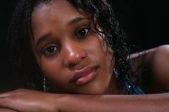 Adolescente Eyed Brown dramático Fotografía de archivo