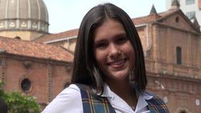 Adolescente fêmea de sorriso imagem de stock