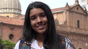 Adolescente fêmea de sorriso feliz fotografia de stock