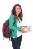 Adolescente felice della scuola secondaria nella formazione Fotografie Stock Libere da Diritti