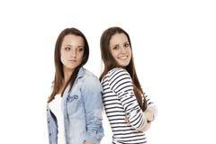 Adolescente felice ed upset Immagine Stock