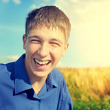 Adolescente felice esterno Fotografia Stock