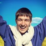 Adolescente felice esterno Immagini Stock