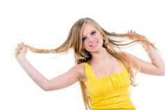 Adolescente felice isolato Immagine Stock