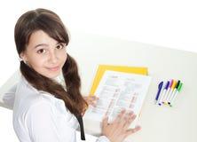 Adolescente felice passato alla prova Fotografie Stock