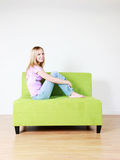Adolescente feliz fotografia de stock royalty free