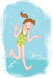 Adolescente feliz ilustração stock