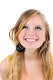 Adolescente feliz aislado Foto de archivo libre de regalías