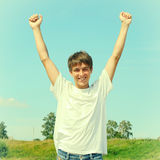 Adolescente feliz al aire libre Imagen de archivo