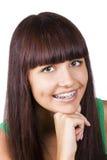 Adolescente feliz com cintas. Fotografia de Stock Royalty Free