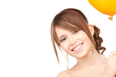 Adolescente feliz con el globo Foto de archivo libre de regalías