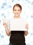 Adolescente feliz con el tablero en blanco Fotografía de archivo libre de regalías