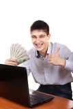 Adolescente feliz con un dinero Fotografía de archivo
