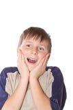 Adolescente feliz de la sorpresa Fotografía de archivo libre de regalías