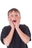Adolescente feliz de la sorpresa Fotos de archivo