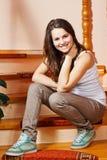 Adolescente feliz em casa Foto de Stock