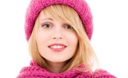 Adolescente feliz en sombrero Fotografía de archivo libre de regalías