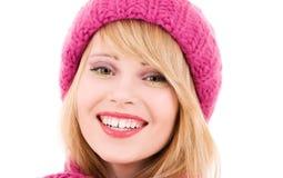 Adolescente feliz en sombrero Fotografía de archivo