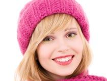 Adolescente feliz en sombrero Fotos de archivo libres de regalías