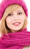 Adolescente feliz en sombrero Fotos de archivo
