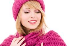 Adolescente feliz en sombrero Imágenes de archivo libres de regalías