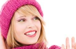 Adolescente feliz en sombrero Imagenes de archivo