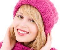 Adolescente feliz en sombrero Imagen de archivo libre de regalías