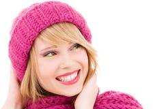 Adolescente feliz en sombrero Foto de archivo