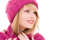 Adolescente feliz en sombrero Imagen de archivo