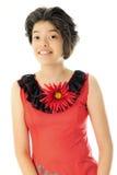 Adolescente feliz en traje mexicano Foto de archivo