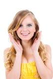 Adolescente feliz isolado Imagens de Stock Royalty Free