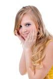 Adolescente feliz isolado Imagem de Stock Royalty Free