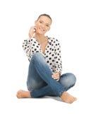 Adolescente feliz y despreocupado Foto de archivo libre de regalías