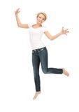 Adolescente feliz y despreocupado Imagen de archivo libre de regalías